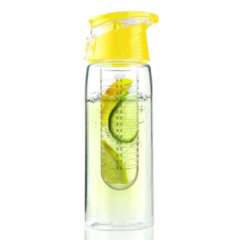 Botella infusión FLAVOUR IT2GO 600ml amarillo