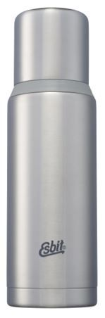 Termo inox. 1L doble pared plata-gris