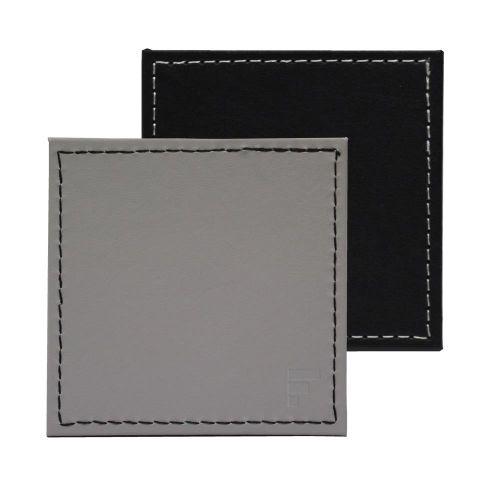 Posavasos gris-negro 10x10cm (set 4)