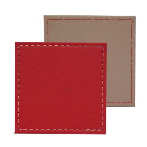 Posavasos rojo-piedra 10x10cm (set 4)