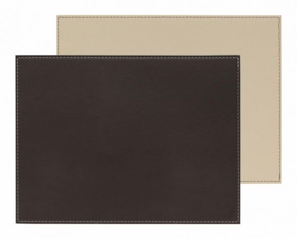 Mantel individual rect. choco-crema 40x30cm
