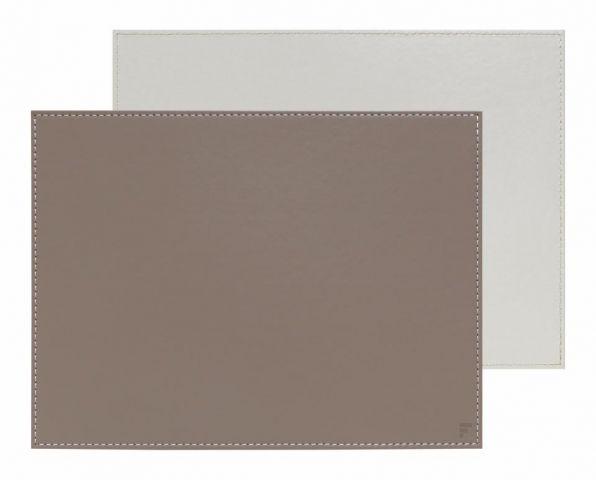 Mantel individual rect. piedra-blanco 40x30cm