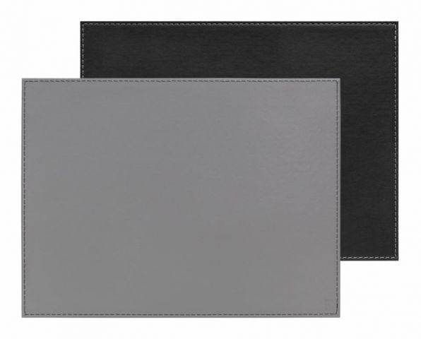 Mantel individual rect. gris-negro 40x30cm