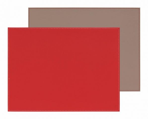 Mantel individual rect. rojo-piedra 40x30cm