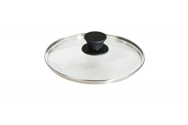 Tapa vidrio c/pomo silicona 20cm