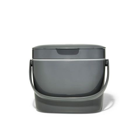 Cubo de basura m.organica- gris 6.6L