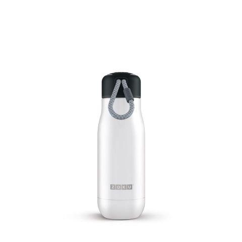 Botella ZOKU colección Inox. 350ml-blanco